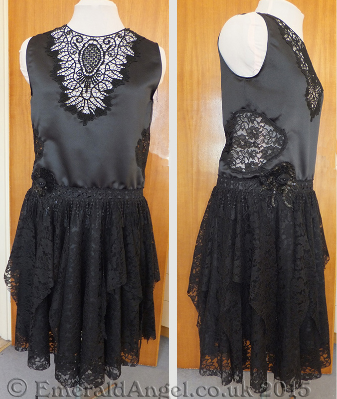1920s custom flapper dress, gothic style