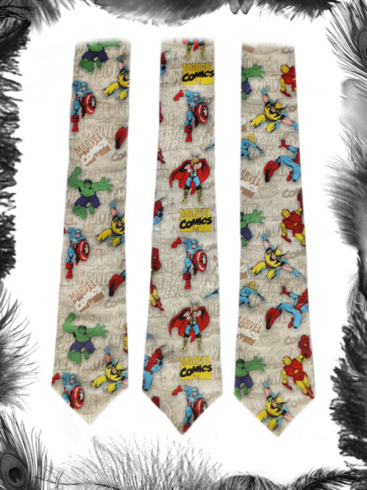avengers superhero ties