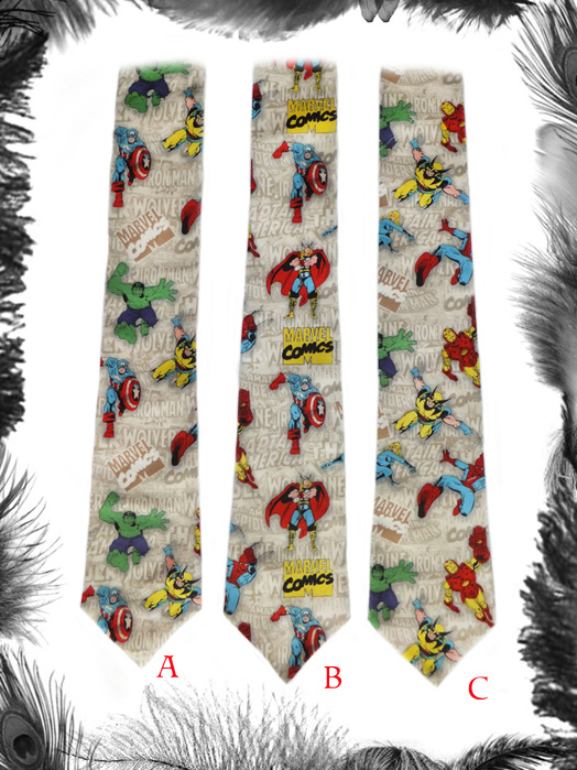 Superheroes Avengers Tie, Comic, Geek