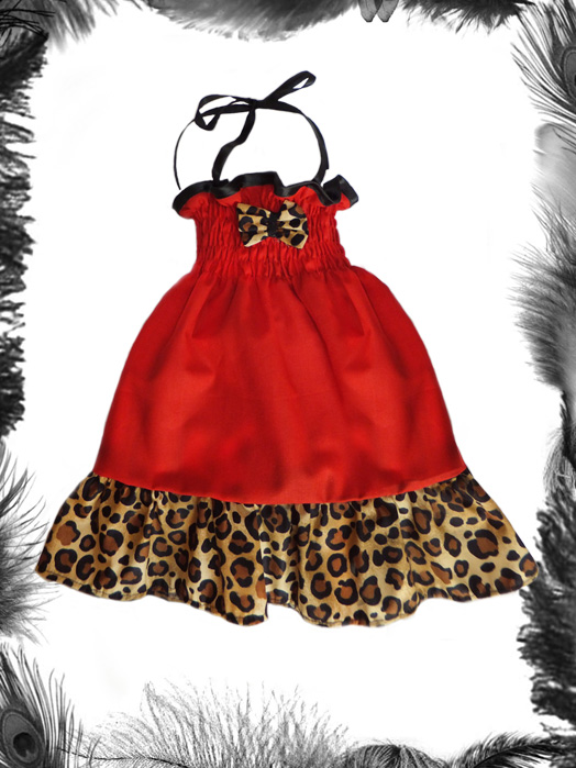 Baby Leopard Print Rockabilly Summer Dress