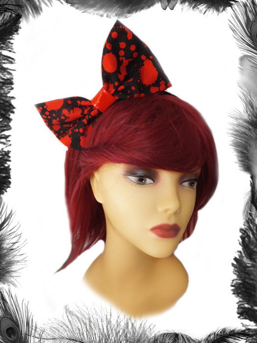 Halloween Blood Spatter Big Hair Bow