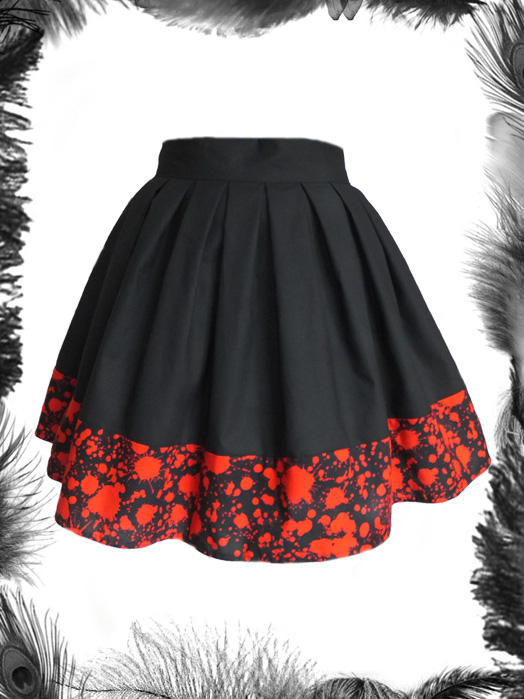 Blood Spatter Skater Skirt