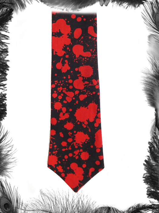 Blood Spatter Gothic Halloween Tie