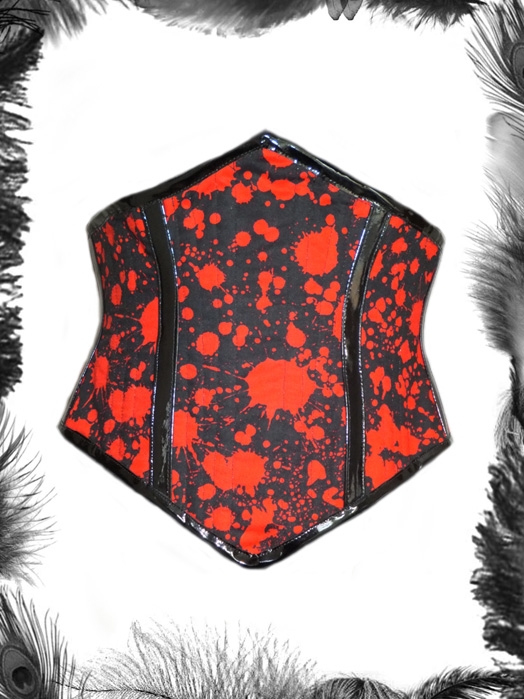blood spatter gothic horror corset