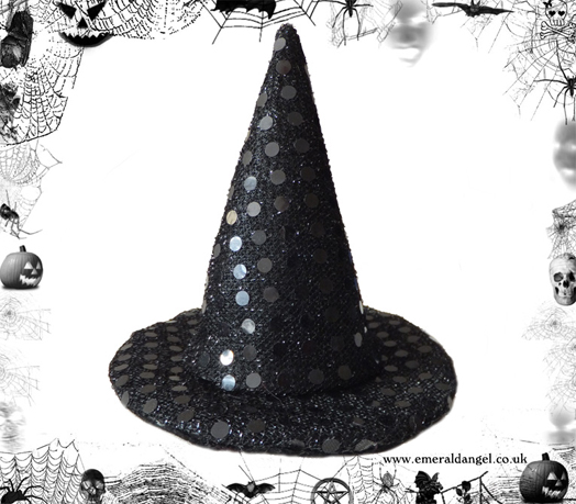 Sequins Pet Witch Hat, Halloween