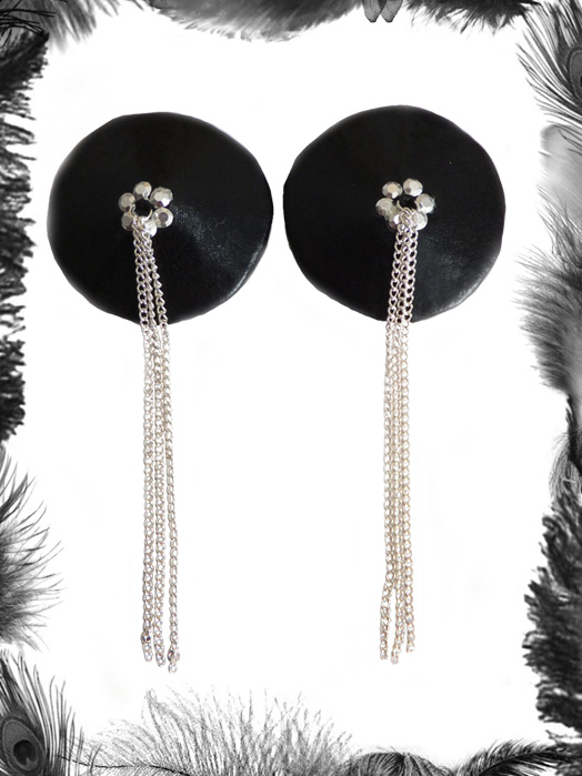 Chains Rhinestone Nipple Tassels, Gothic, Fetish
