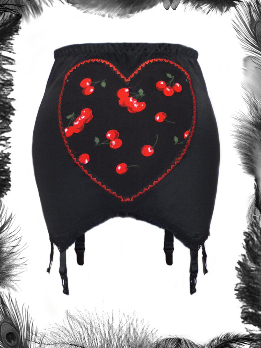 Cherries Heart Girdle, Rockabilly
