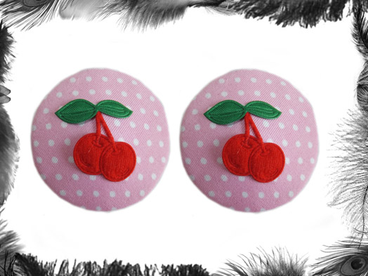 Polka Dot & Cherries burlesque Pasties