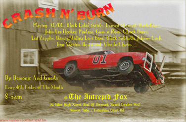 crash n burn flyer