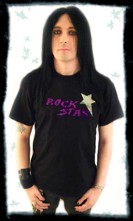 glam rock rock star tshirt