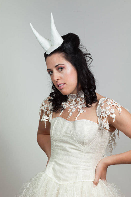 Lace Horns Hat, gothic, fantasy, goblin ball