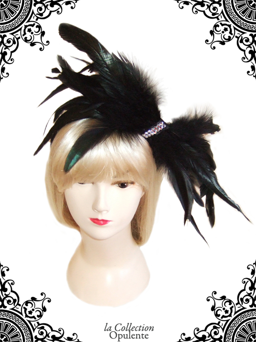Swarovski & Feathers Bow Couture Fascinator