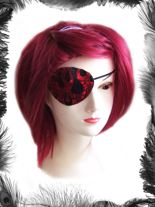 Flames Eye Patch, Gothic, Fantasy