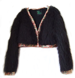 fur & embroidery jacket