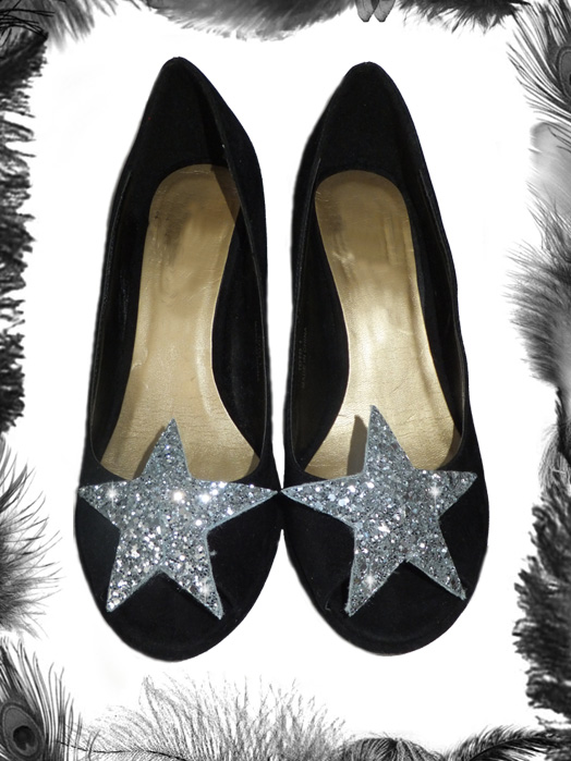 Glitter Star Shoe Clips