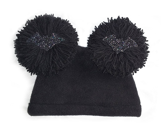 gothic winter bats and pom pom hat