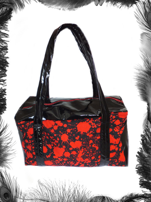 Horror Blood Spatter & Pvc Handbag
