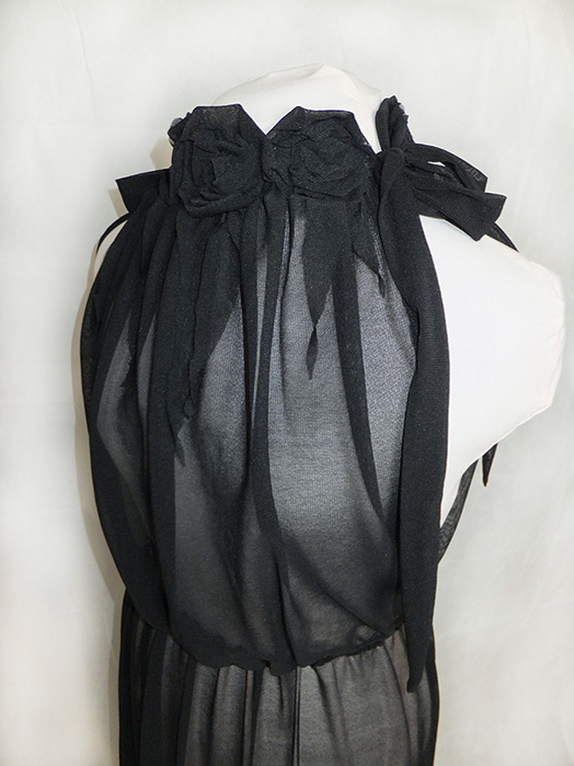 sheer roses cocktail dress, gothic glamour
