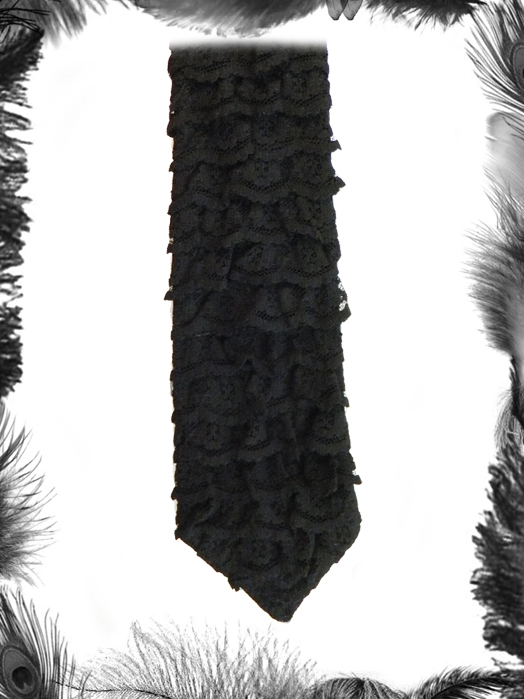 gothic lace tie, gothic wedding accessory