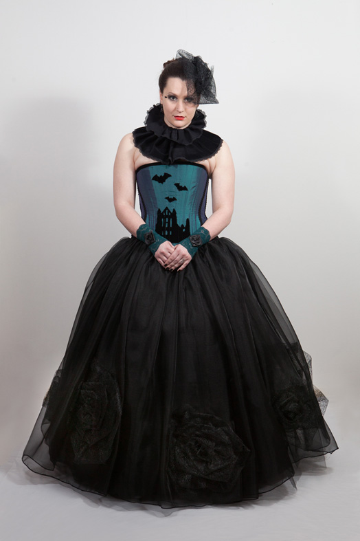 gothic wedding ballgown skirt