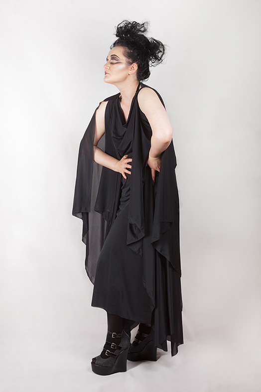 witching hour sheer drape dress, gothic, ritual