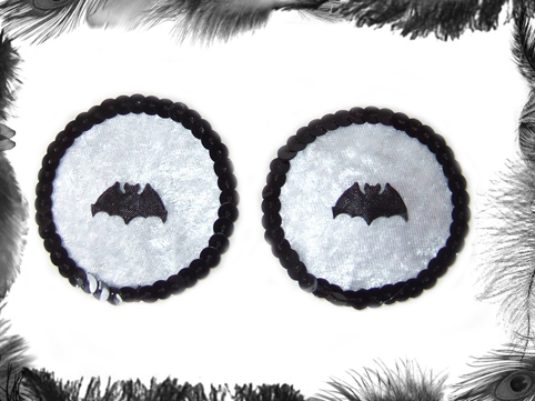 bat and sequin nipple pasties, burlesque