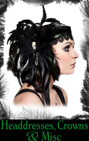 gothic flapper burlesque feather sequin swarovski headdresses