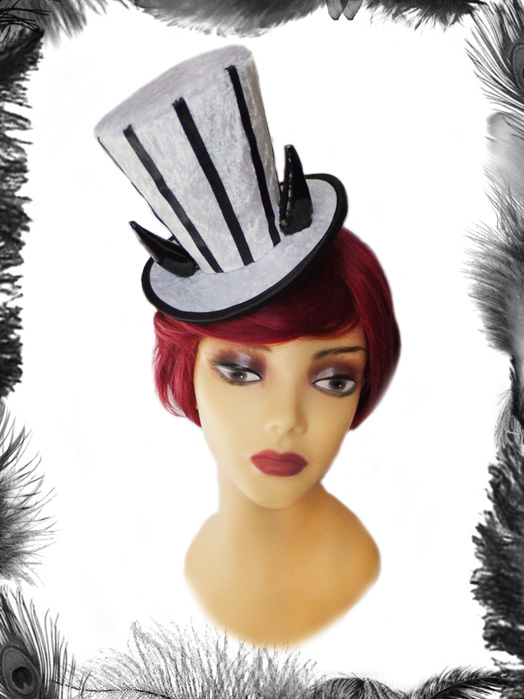Horns Mini Top Hat, Gothic, Circus