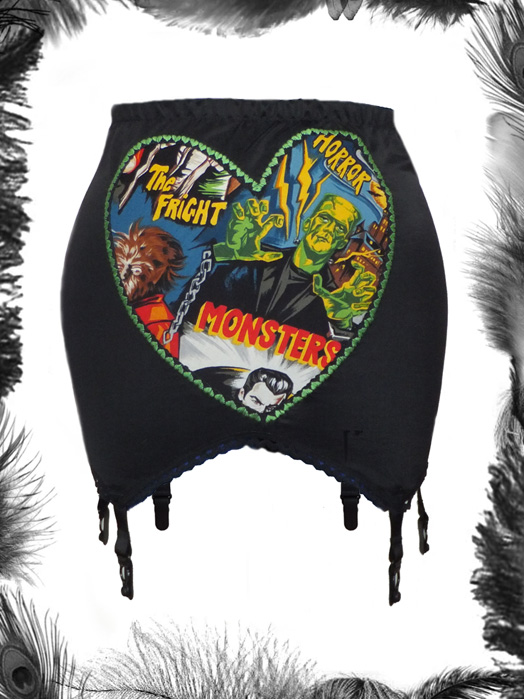 horror monsters girdle, psychobilly, gothic