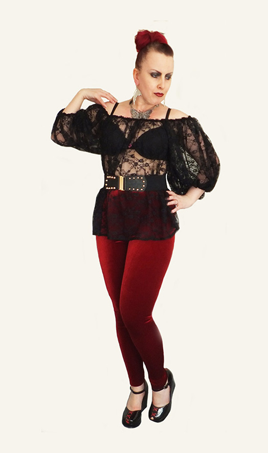 Oversize Lace Blouse, Goth, Witch