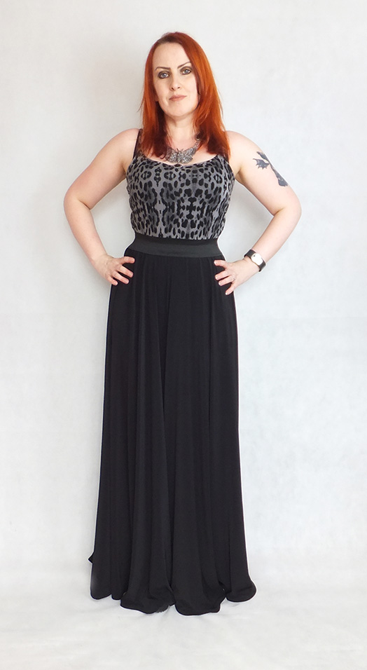 gothic huge wide leg trousers