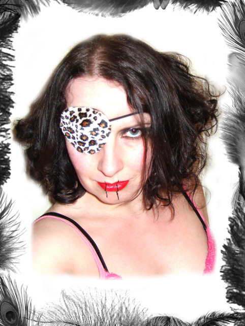 leopard print eye patch, glam rock