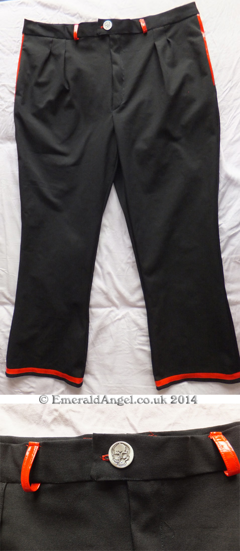 mens custom gothic trousers