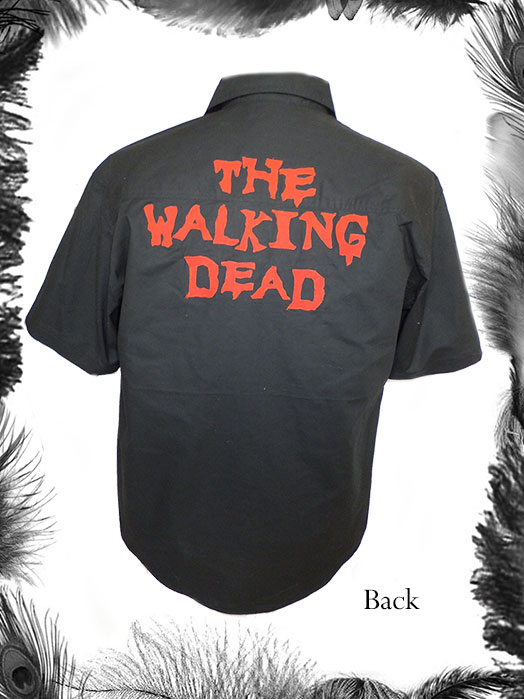 The Walking Dead print mens shirt, zombie, psychobilly