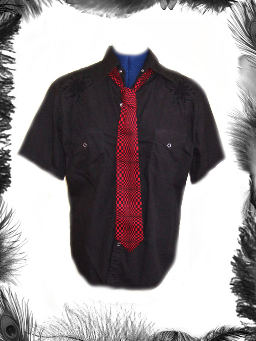 Psychedelic Print Tie, Mod, Retro Style