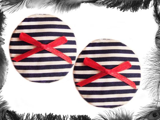 Nautical Stripe burlesque Pasties, Sailor, Burlesque Wear