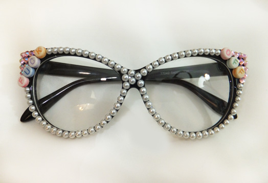 Pearls n Crystals Swear Glasses