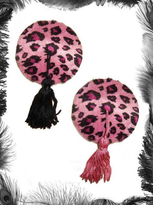 Leopard Print Nipple Tassels, Burlesque, Rockabilly