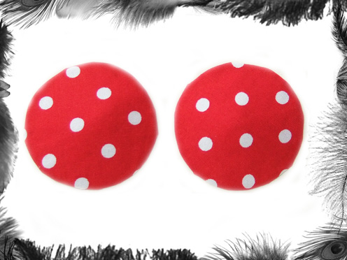 polka dot nippel pasties burlesque wear