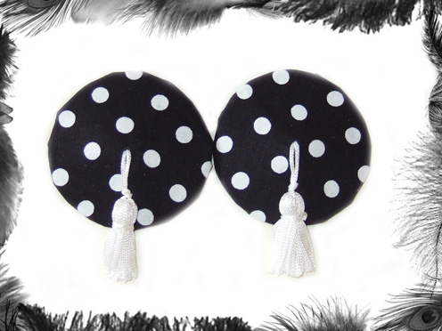 polka dot nipple tassels burlesque