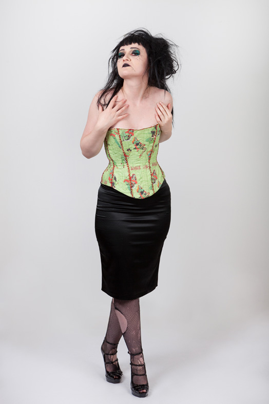 Horror Zombie Pin up halloween corset