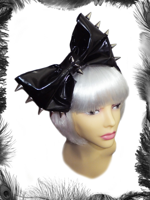 Pvc & Spikes Big Hair Bow
