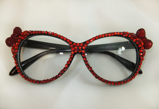 Rhinestones & Crystal Bow Glasses