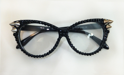 Rhinestones & Spikes Glasses