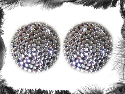 rhinestone nippel pasties burlesque wear