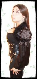 satin feathers shrug bolero gothic burlesque