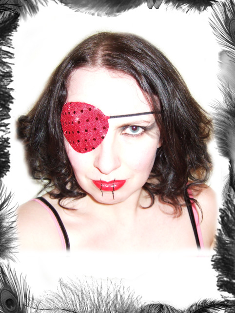 sequin eye patch glam rock