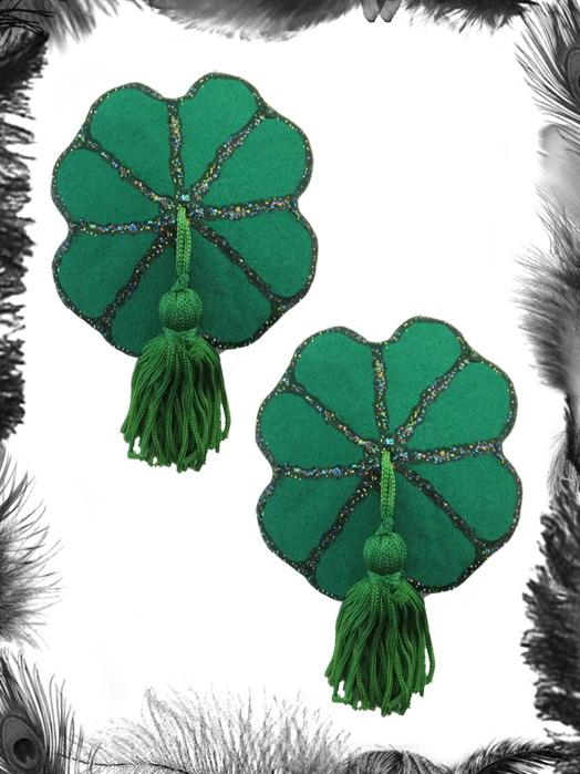 st patricks day shamrock burlesque tassels