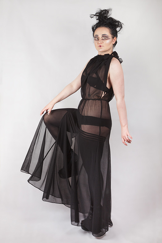 sheer roses elegant gothic dress, gtohic wedding
