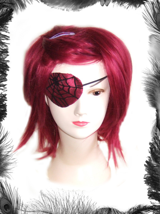 Spider Web Eye Patch, Gothic, Pirate
